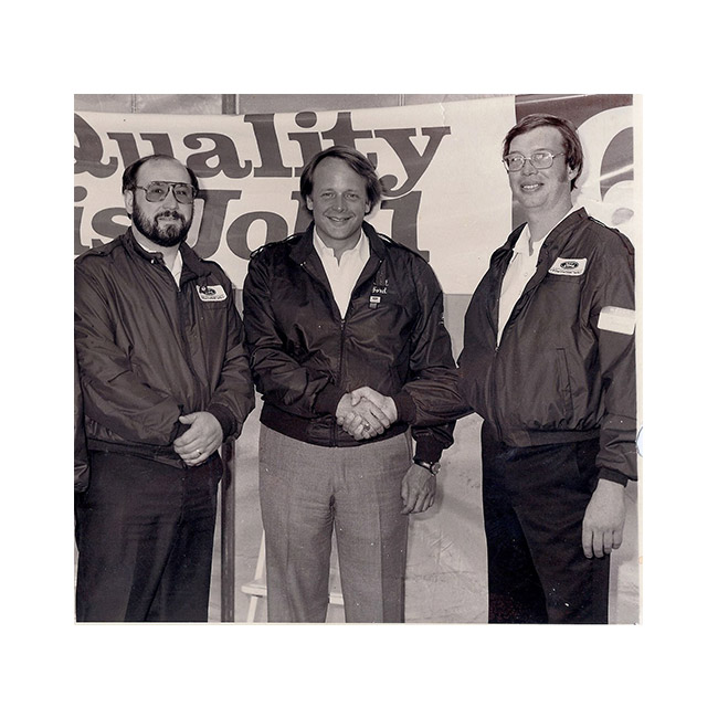 Mike Burkart, Edsel Ford Jr., Tom Beringer